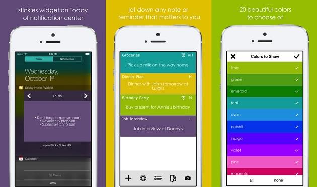 Sticky Notes HD: una semplice app per prendere appunti con supporto ai widget nel Centro Notifiche