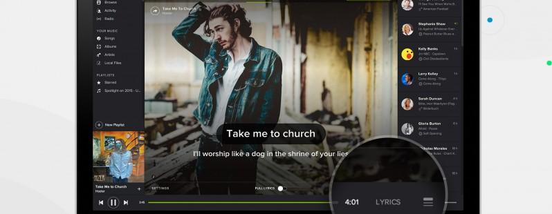 Un aggiornamento per l'applicazione desktop di Spotify apporta la completa integrazione dei testi da Musixmatch