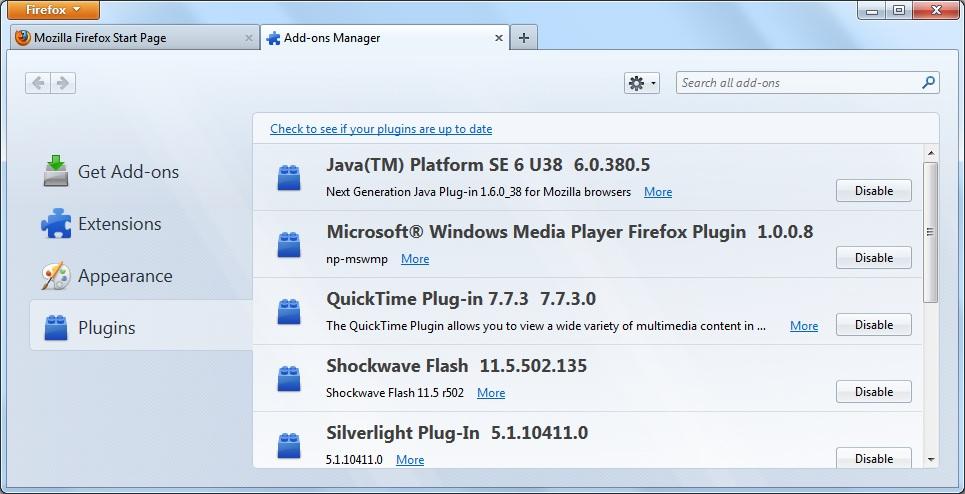 Plugin utili per Firefox (versione 36 ed avanzate)