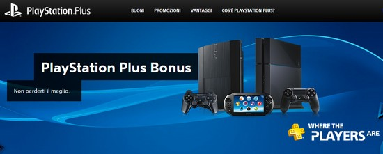 PlayStation®Plus Bonus: le promozioni per PlayStation Sony