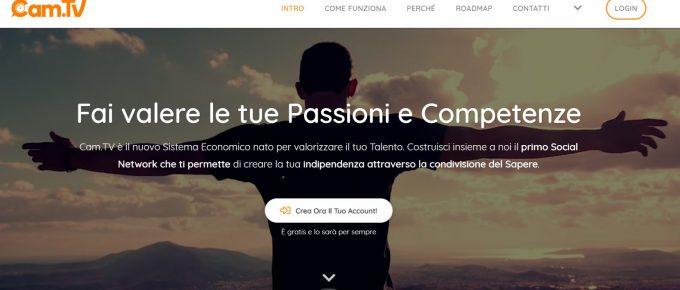CAM. TV: la Social Company che fa guadagnare dalle proprie passioni